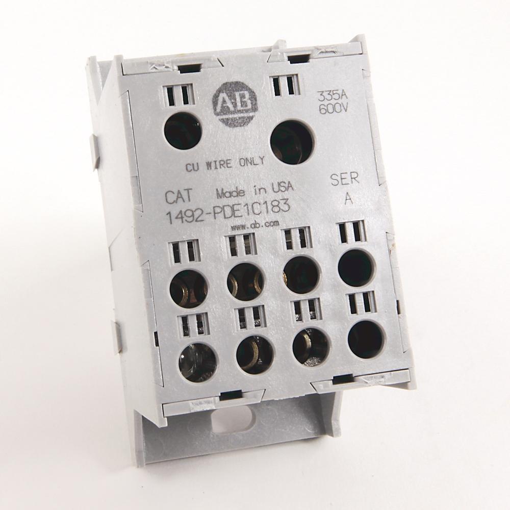 1492-PDE1C183 AB POWER BLK 1 POLE ENCLOSED