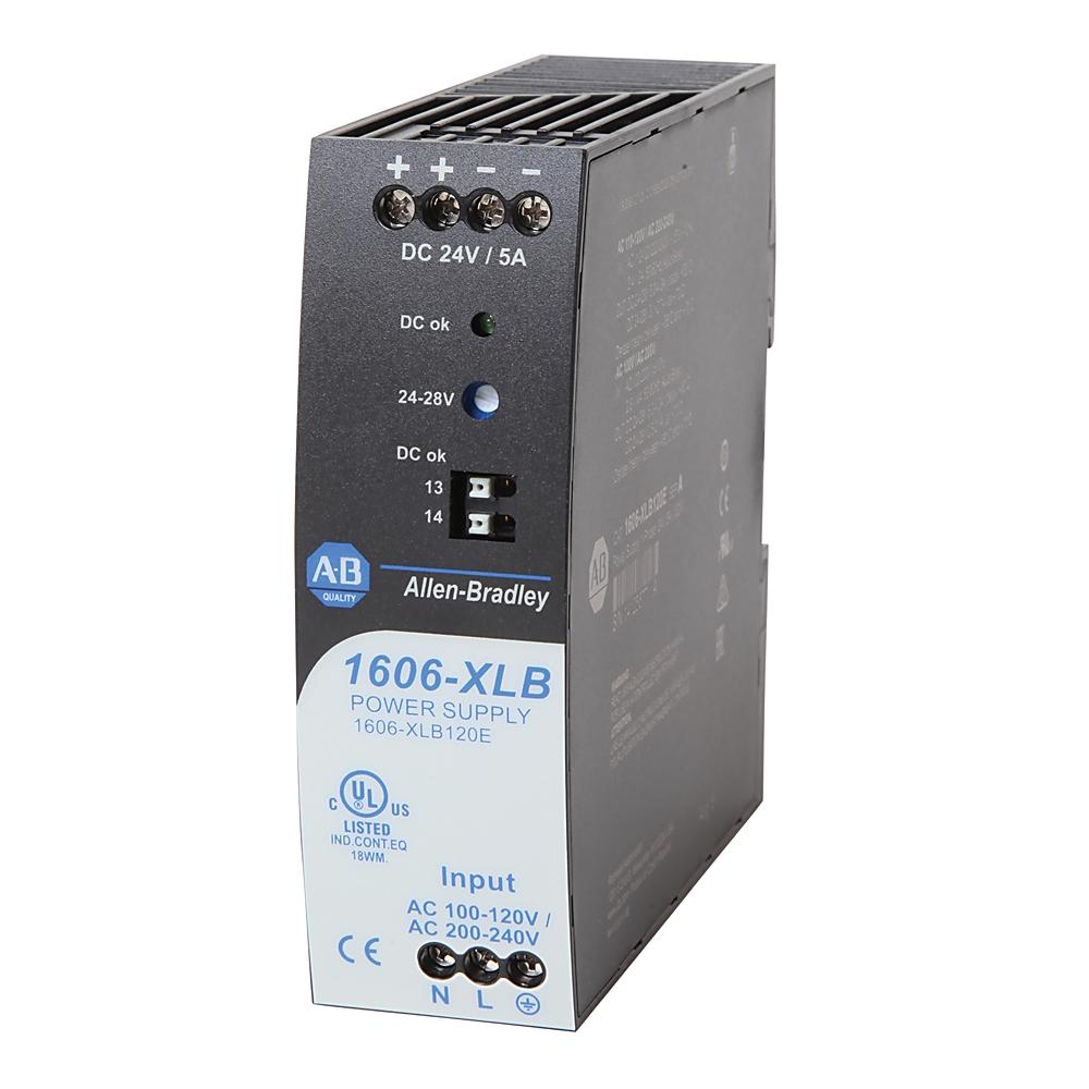 1606-XLB120E AB AC/DC DIN MOUNT POWER SUPPLY 120W 24V-28V