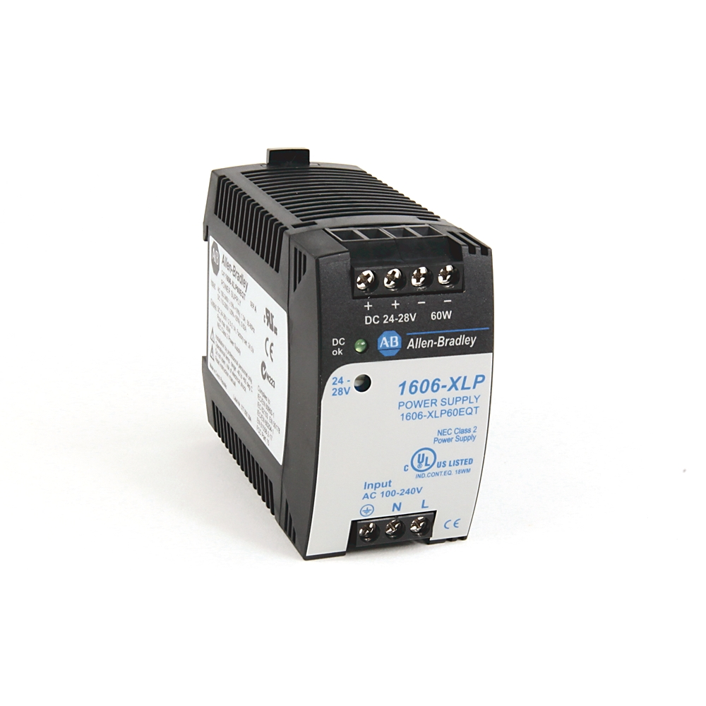 1606-XLP60EQ AB 60 WATT COMPACT POWER SUPPLY 120V INPUT 24VDC OUT