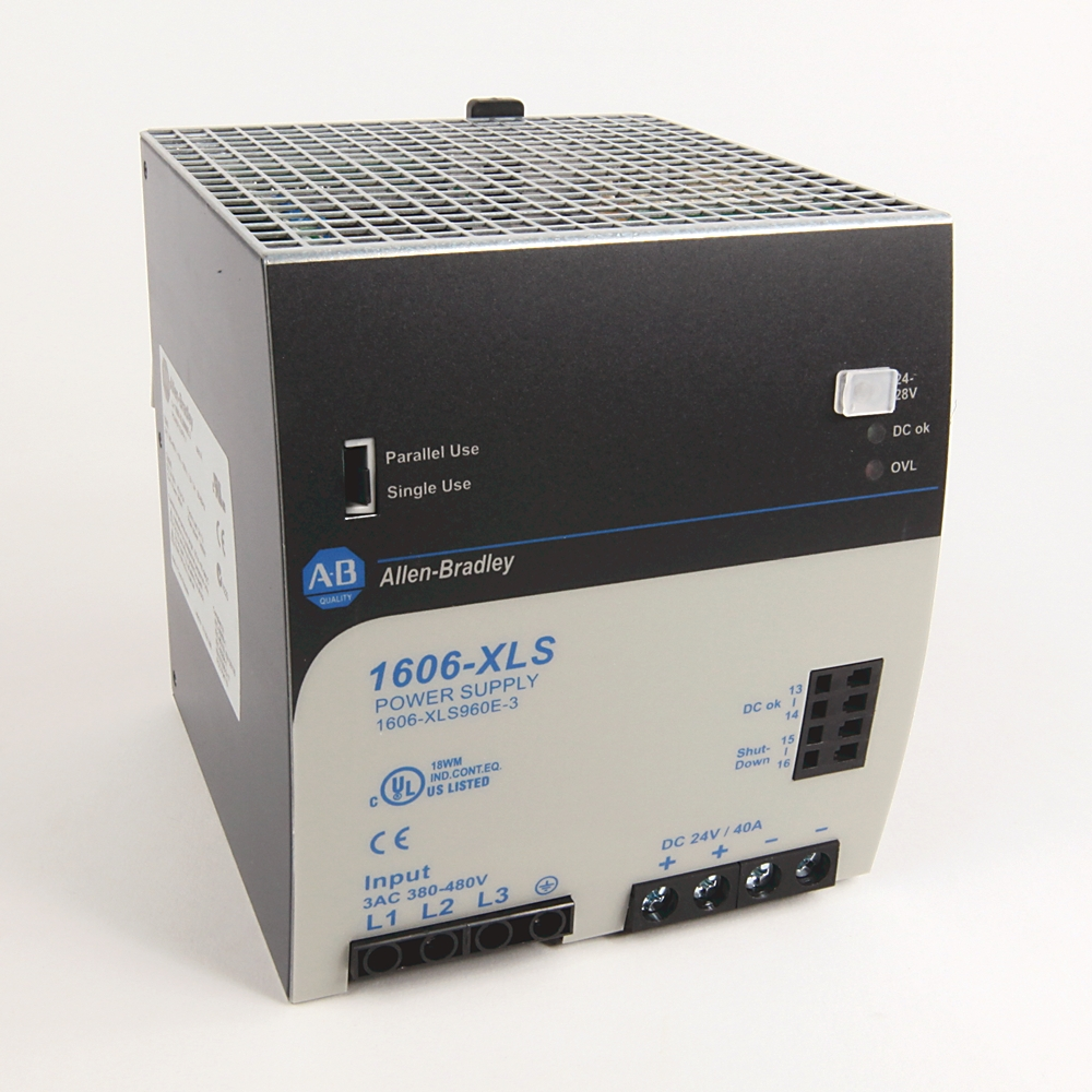 Allen-Bradley,1606-XLS960E-3,380 to 480VAC In 24 to 28VDC Out 960W PS