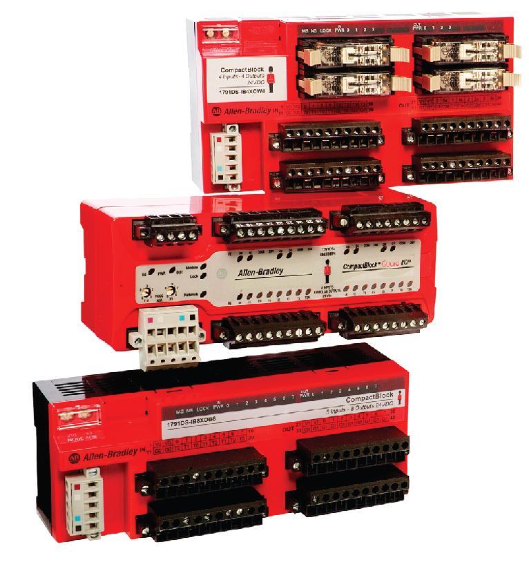 Allen-Bradley,1791DS-IB8XOB8,Guard I/O 16 Point Digital Comb Module