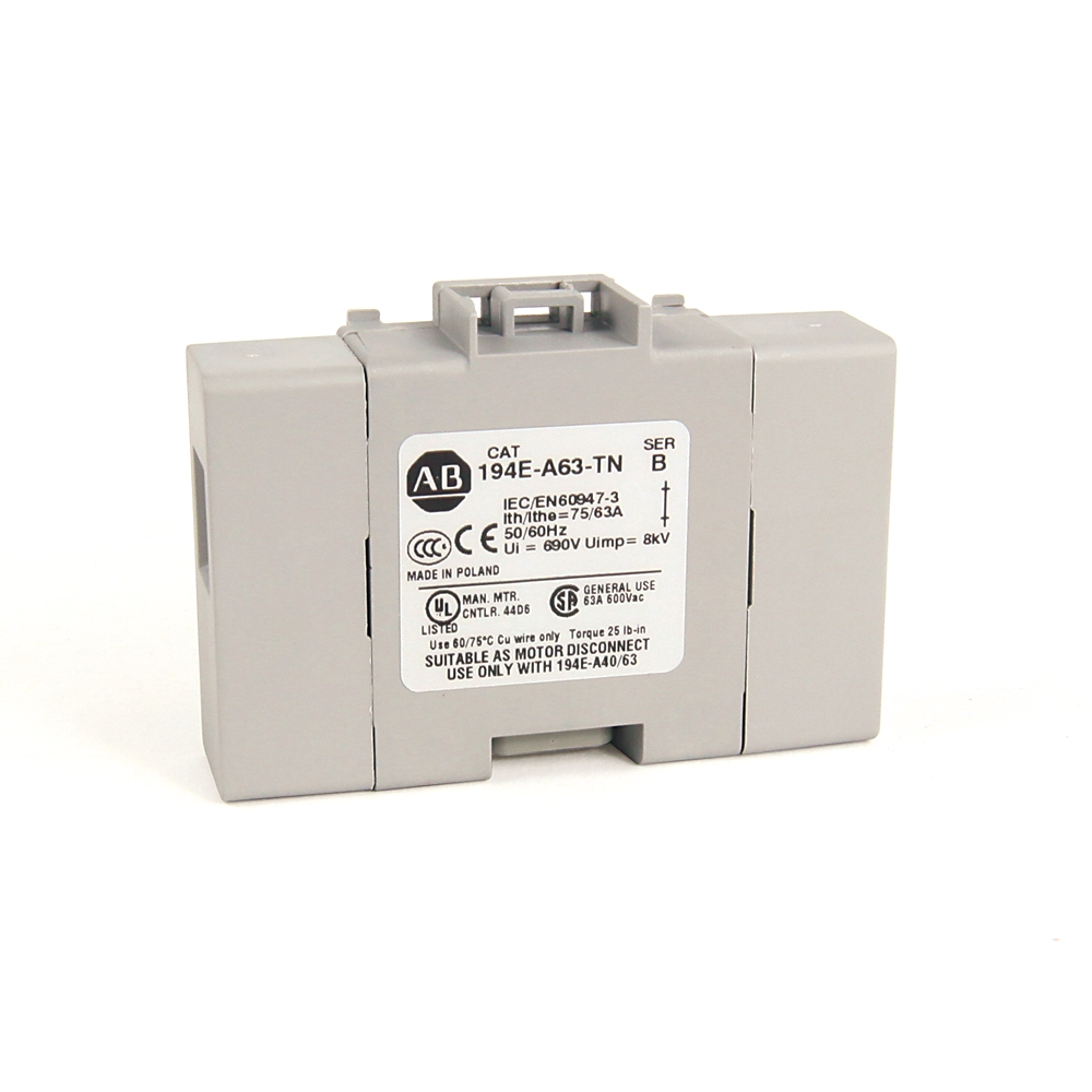 194E-A63-TN AB NEUTRAL TERMINAL, 40 - 63 AMP 66246862194