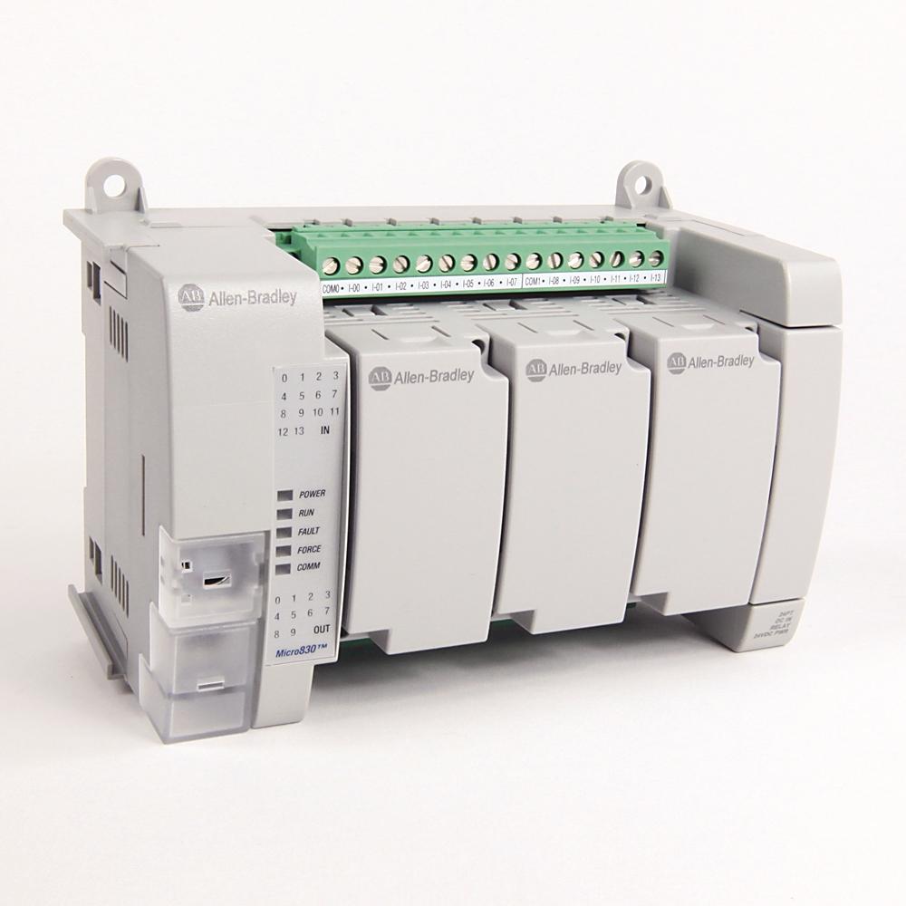 Allen-Bradley,2080-LC30-24QWB,MICRO830  24 I/O CONTROLLER