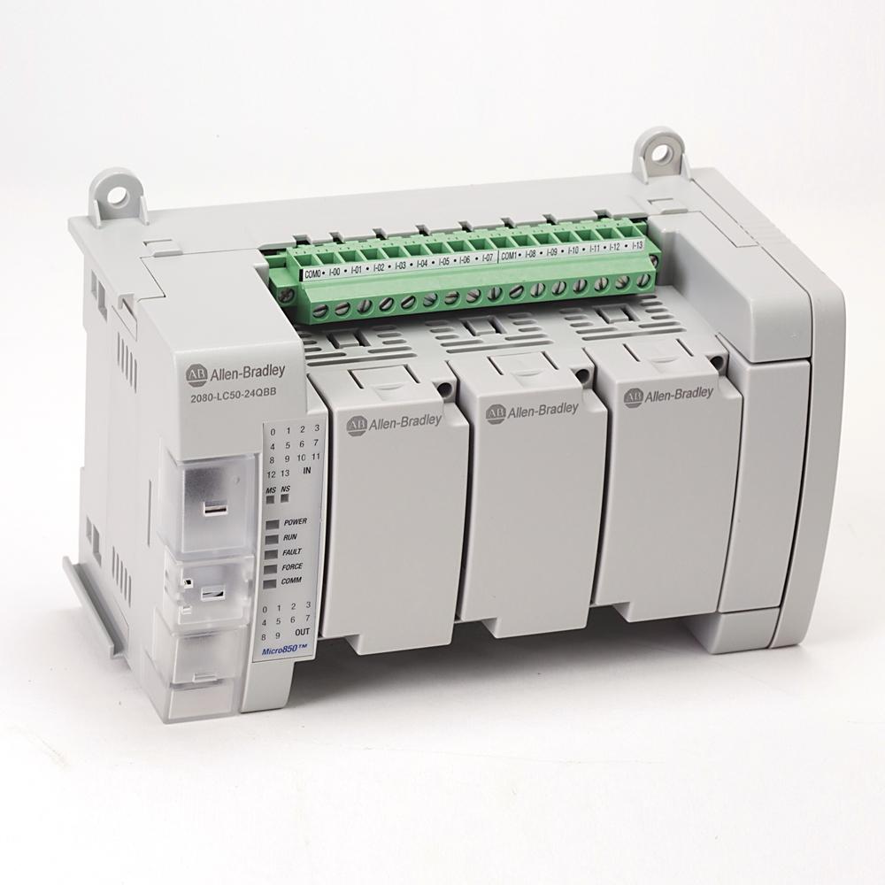 Allen-Bradley,2080-LC50-24QBB,Micro850 24 I/O EtherNet/IP Controller