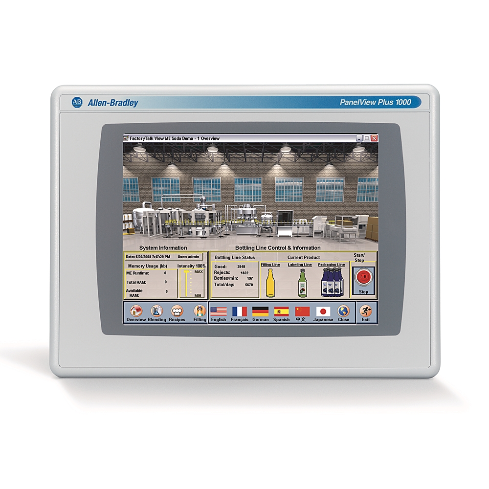 2711P-T10C4A8 AB PANELVIEW PLUS 6, 1000, TOUCHSCREEN, COLOR, AC, ETHERNET, RS232