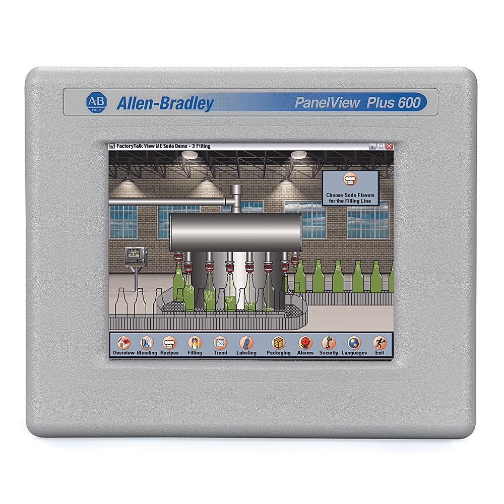 Allen-Bradley,2711P-T6C20D8,PanelView Plus 6 6 Color Touch DC