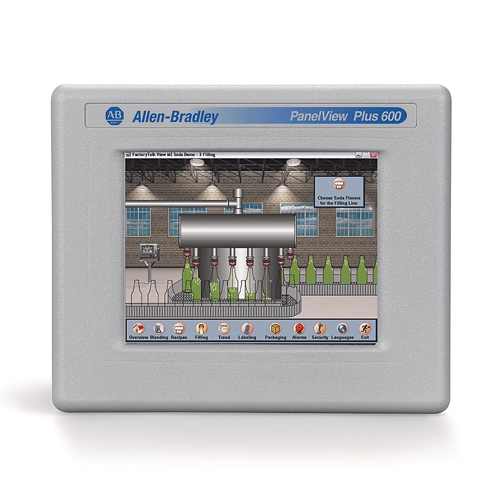 Allen-Bradley,2711P-T6M20D8,PanelView Plus 6 6 Grayscale Touch DC