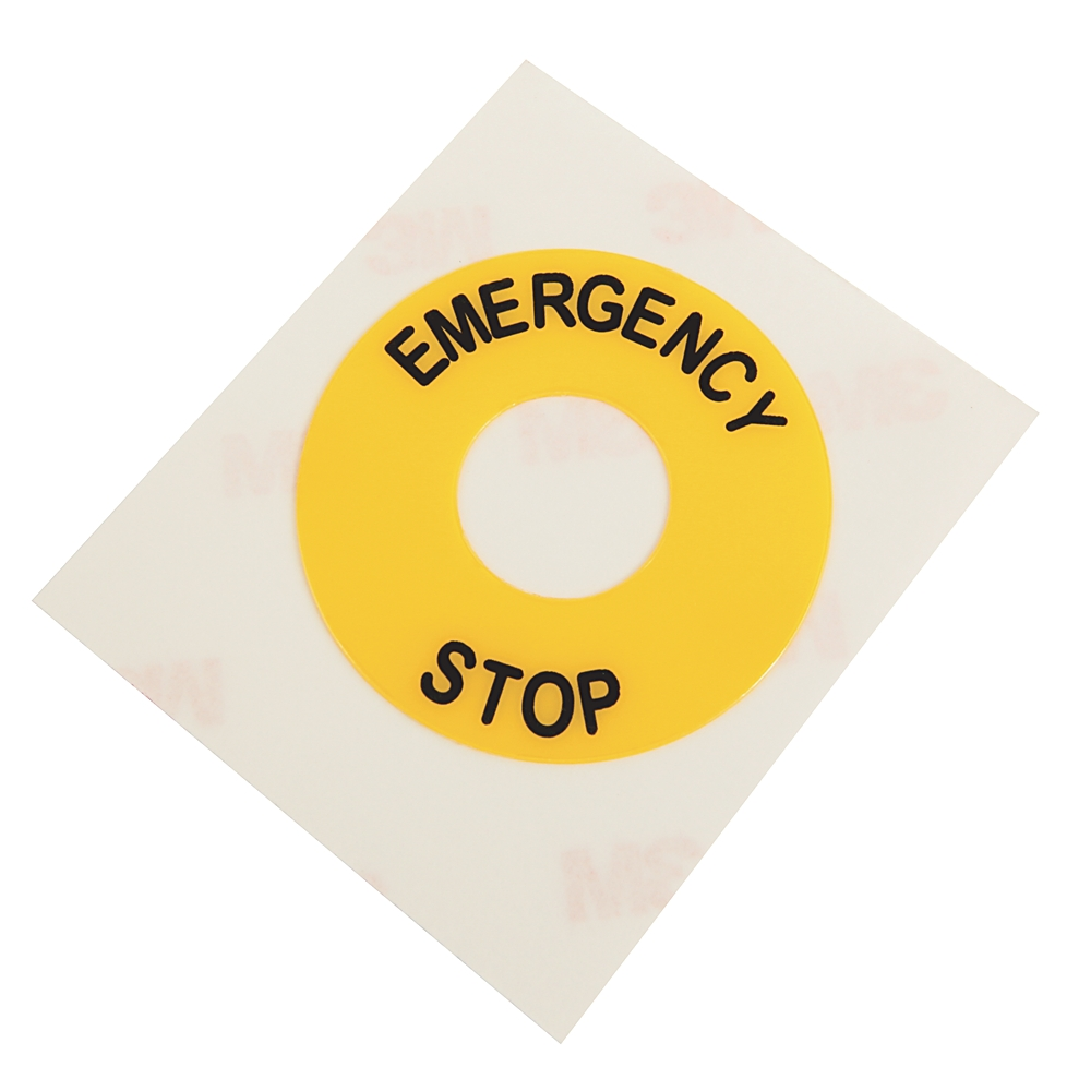 800B-15YE112 AB 16MM 800B LEGEND PLATE EMERGENCY STOP 61259898433