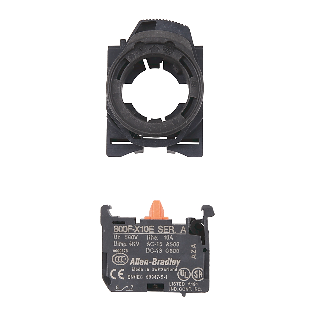 800F-PX12 AB 800F CONTACT BLOCK WITH PLASTIC LATCH, SCREW TERMI 78118042098