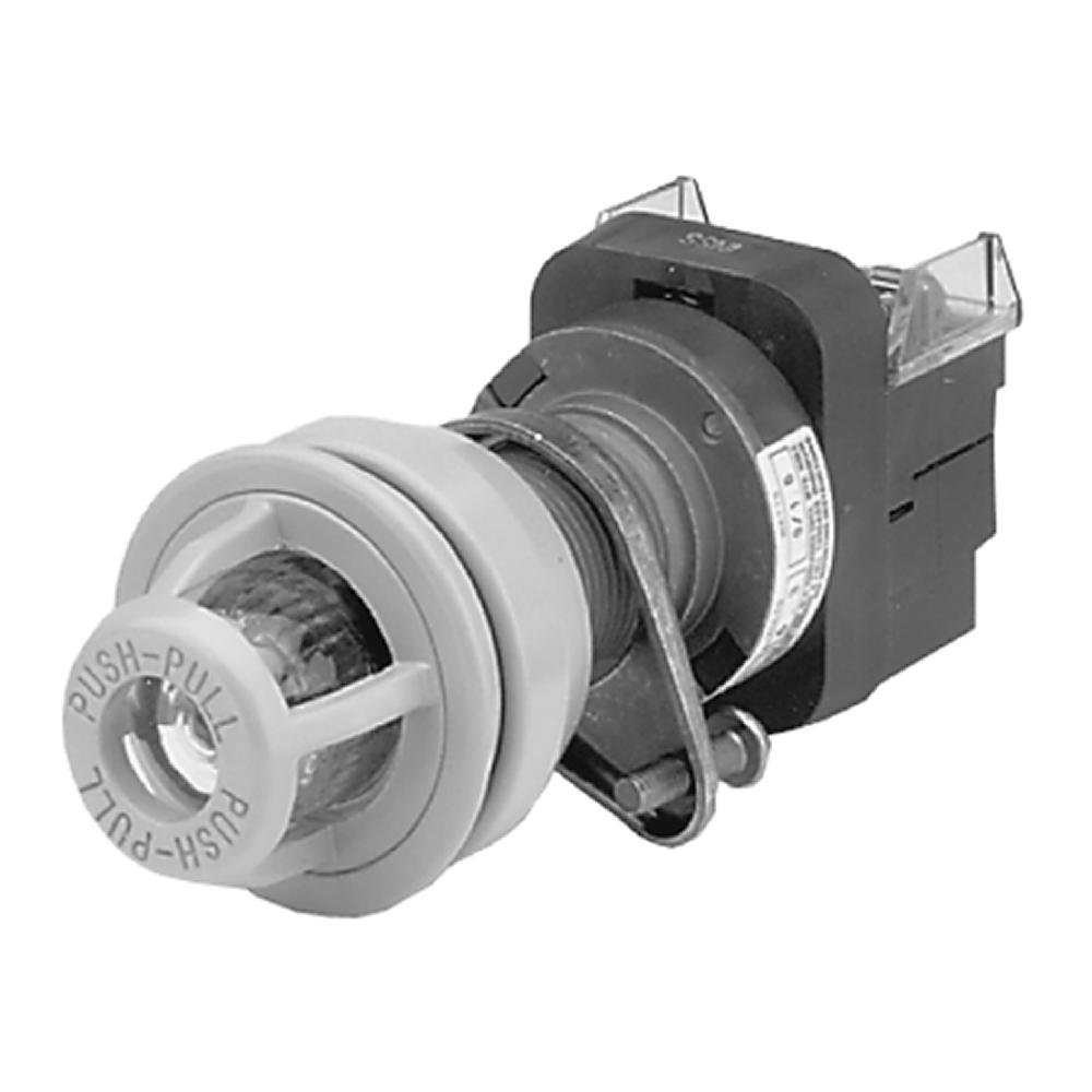 800H-FPXQH2MA1 AB PUSH-PULL PUSHBUTTON, TYPE 7&9 ILLUMINATED, FULL VOLTAGE TYPE, 12-130V AC/DC, LED LAMP