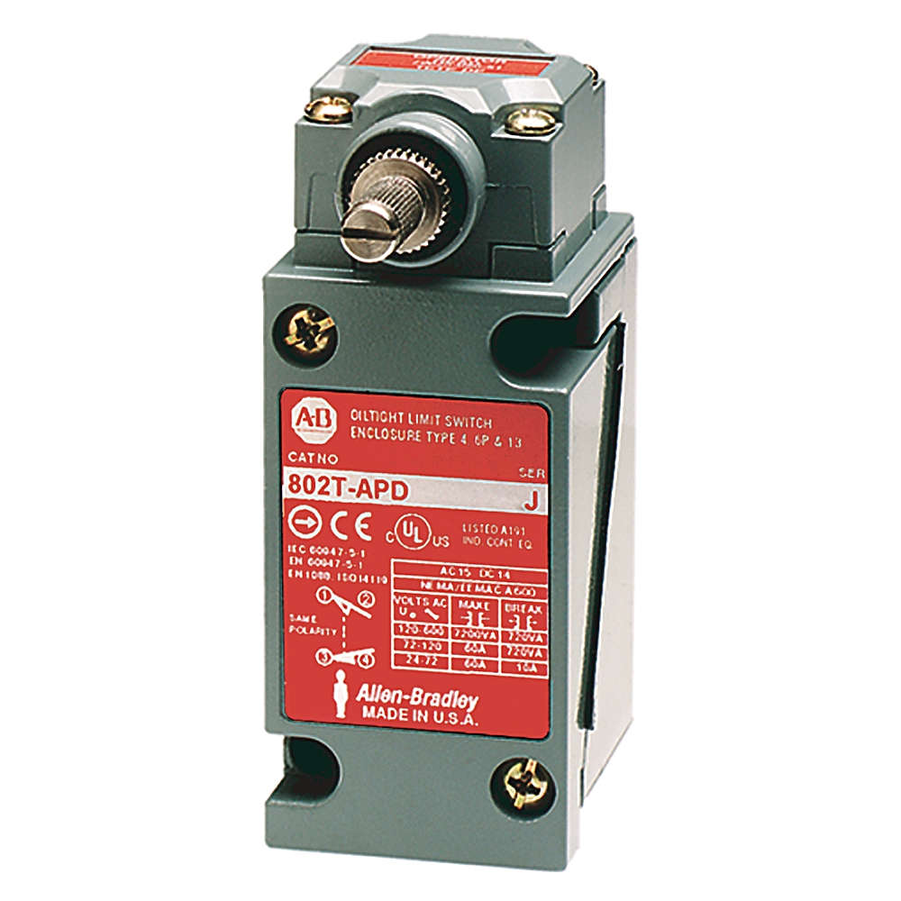 802T-APD AB LIMIT SWITCH 2-CIRCT PLUG-IN DIRECT ACTION