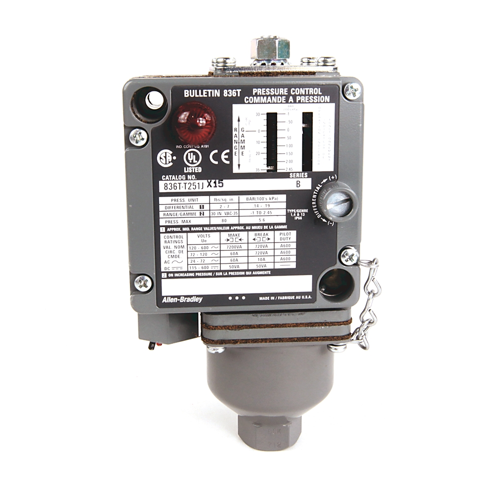 836T-T254J AB INDUSTRIAL PRESSURE SWITCH