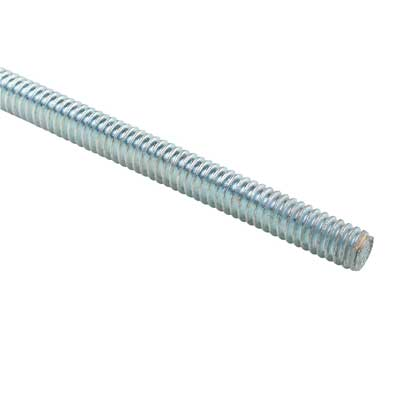 "R1038 - 3/8""X10' Silver All Thread - Thomas & Betts"
