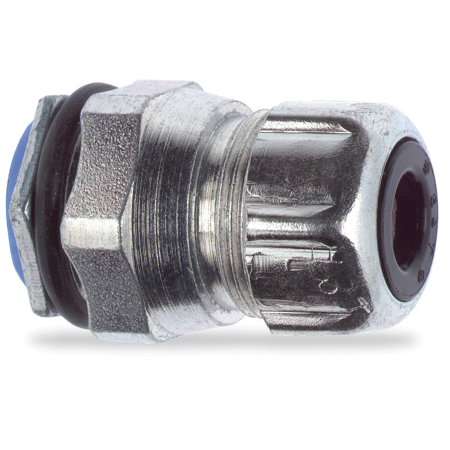 T&B Industrial Fitting,2638,T&B Industrial Fitting 2638 Flexible Liquidtight Cord Connector, 3/4 in Trade, 0.25 - 0.375 in Cable Openings, Steel