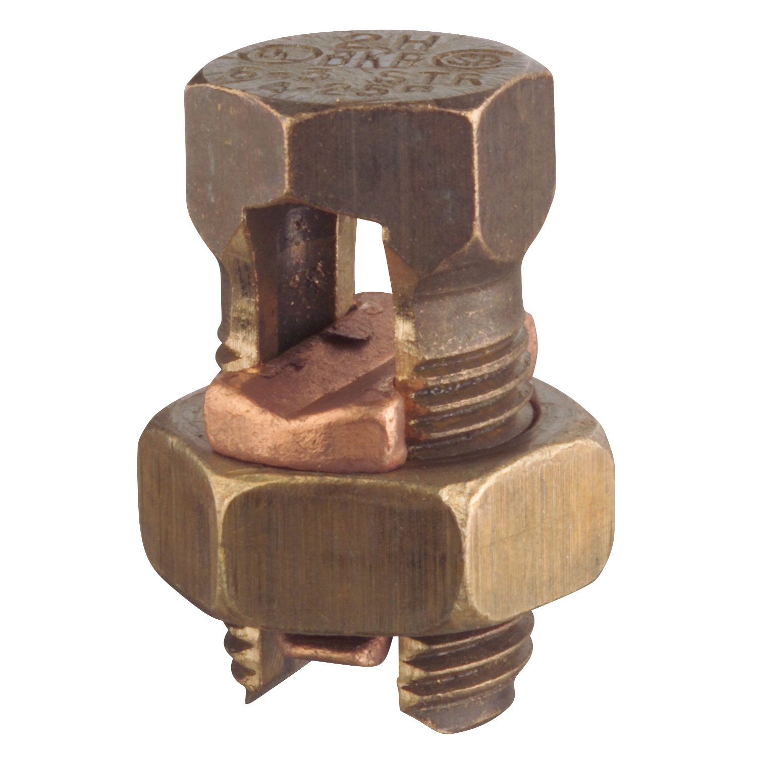 Blackburn,6H,Blackburn® H High Strength Split Bolt Connector, 8 to 6 AWG Solid Copper Conductor, 31/32 in x 15/32 in Bolt