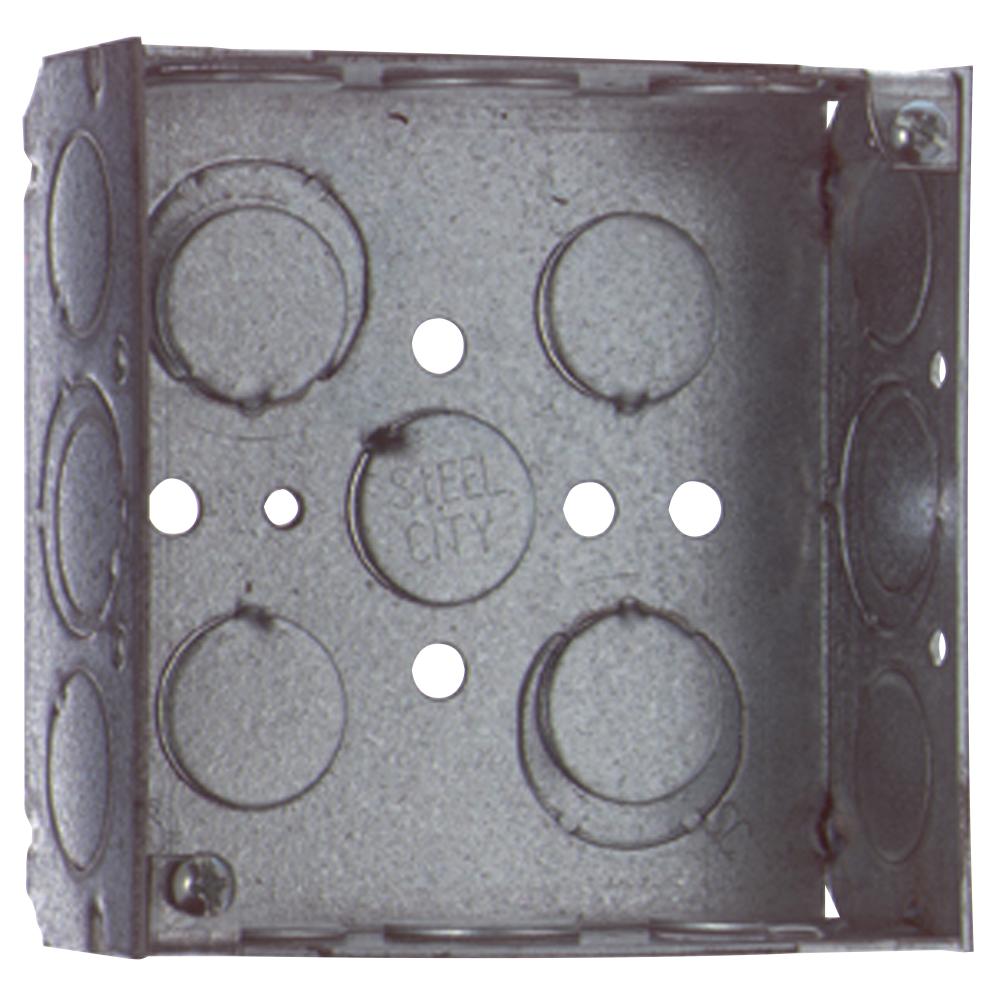 Steel City,521511234EW,Steel City® 521511234EW Square Box, Steel, 21 cu-in, 11 Knockouts