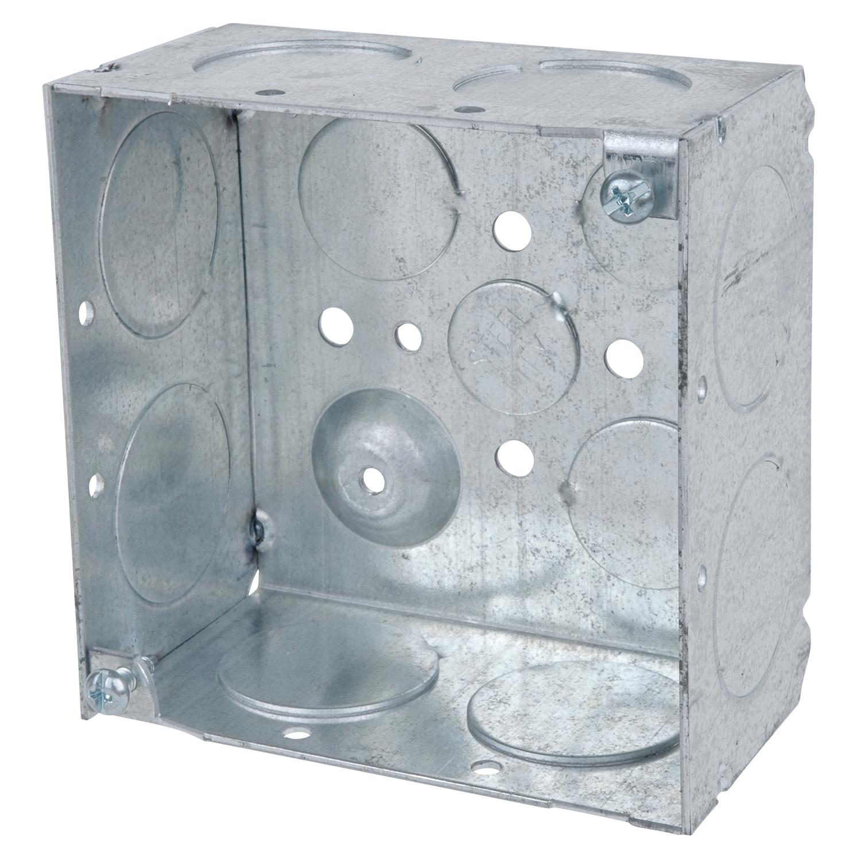 Steel City,52171-1,Steel City® 52171-1 Square Box, Steel, 30.3 cu-in, 4 Knockouts