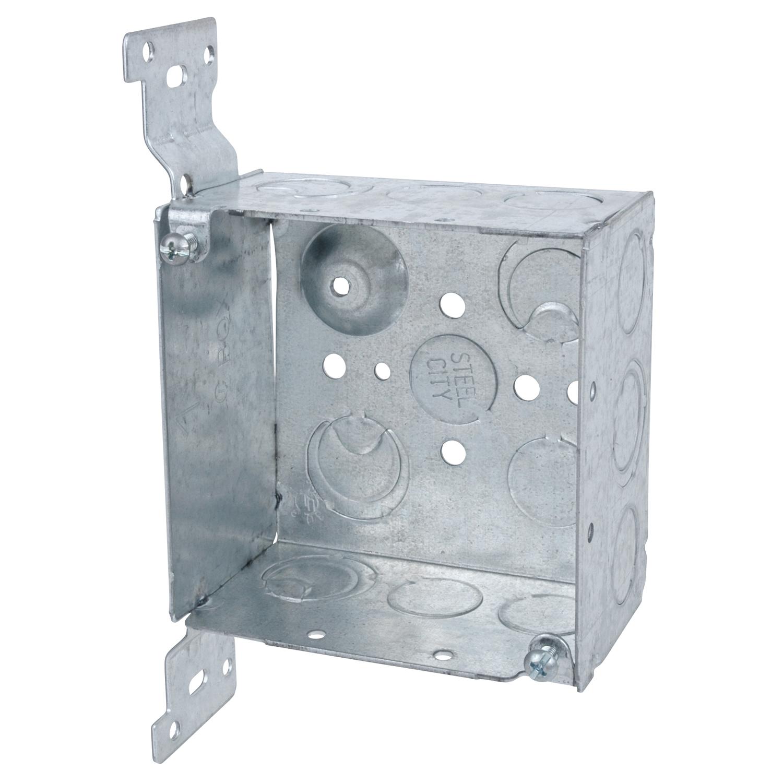 Steel City,52171-CV1/2-3/4,Steel City® 52171-CV1/2-3/4 Square Box, Steel, 30.3 cu-in, 17 Knockouts