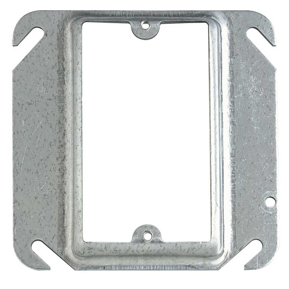 Steel City,52-C-13,Steel City® 52-C-13 Outlet Square Box Cover, 4 in L x 4 in W, Steel