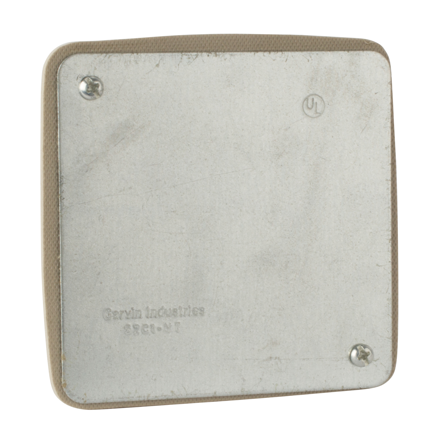 STEEL-CITY 52-C-1-VT 4-IN SQUARE COVER, FLAT, BLANK, VAPOR TIGHT
