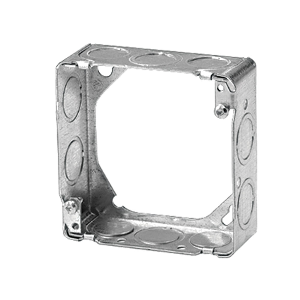Steel City,73151-1/2-3/4,Steel City® 73151-1/2-3/4 Square Box Extension Ring, 4-11/16 in L x 4-11/16 in W x 1-1/2 in D, Steel