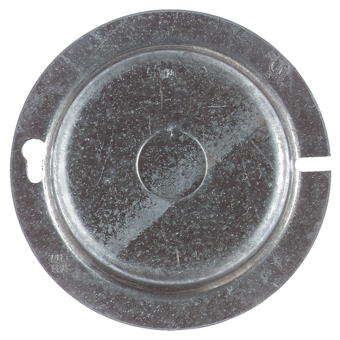 Steel City,54-C-7,Steel City® 54-C-7 Outlet Round Box Cover With Knockouts, 4 in Dia, Steel
