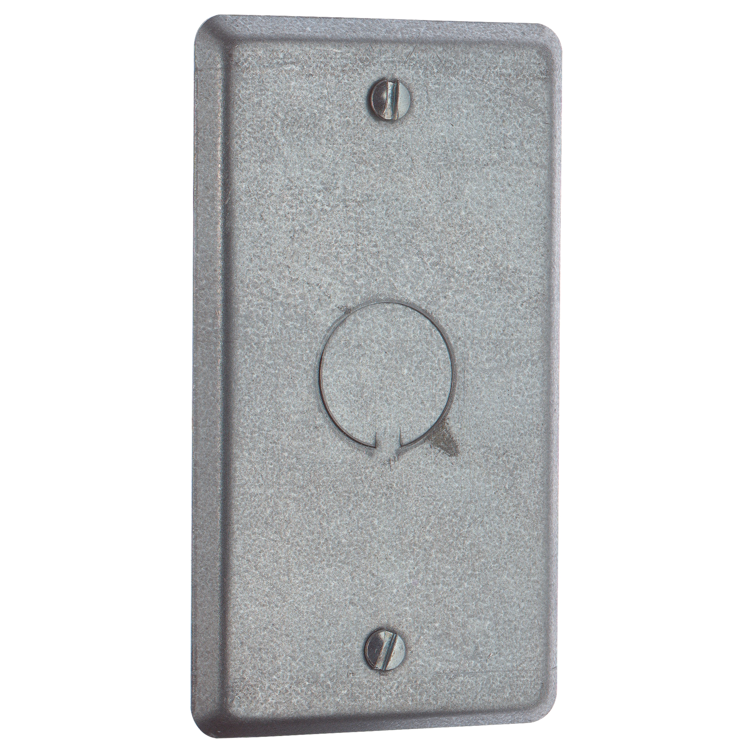 Steel City,58-C-6,Steel City® 58-C-6 Utility Outlet Box Cover, 4 in L x 2-1/8 in W, Steel