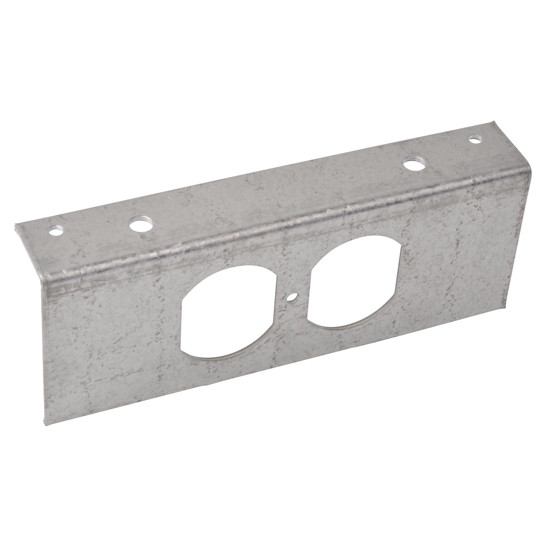 Steel City,665-RP,Steel City® 665-RP Recessed Service Device Plate, 5-3/4 in L x 2-3/4 in W, 4 Gangs, Steel
