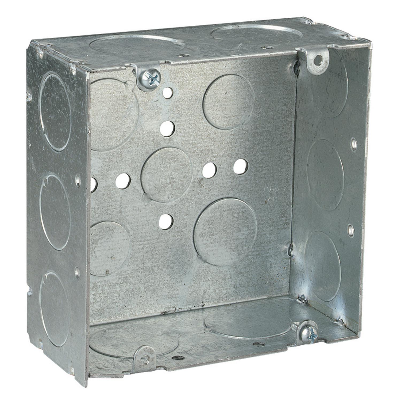Steel City,72171-3/4-1,Steel City® 72171-3/4-1 Square Box, Steel, 42 cu-in, 9 Knockouts