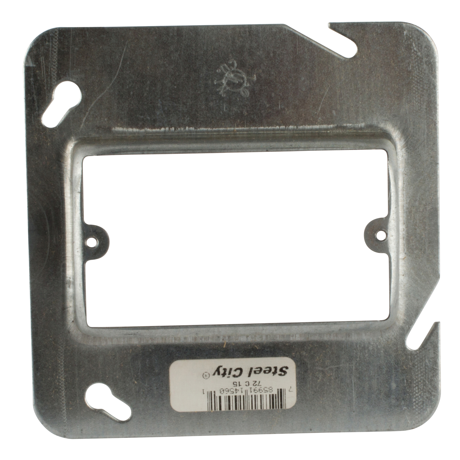 Steel City,72-C-15,Steel City® 72-C-15 Outlet Square Box Cover, 4-11/16 in L x 4-11/16 in W, Steel