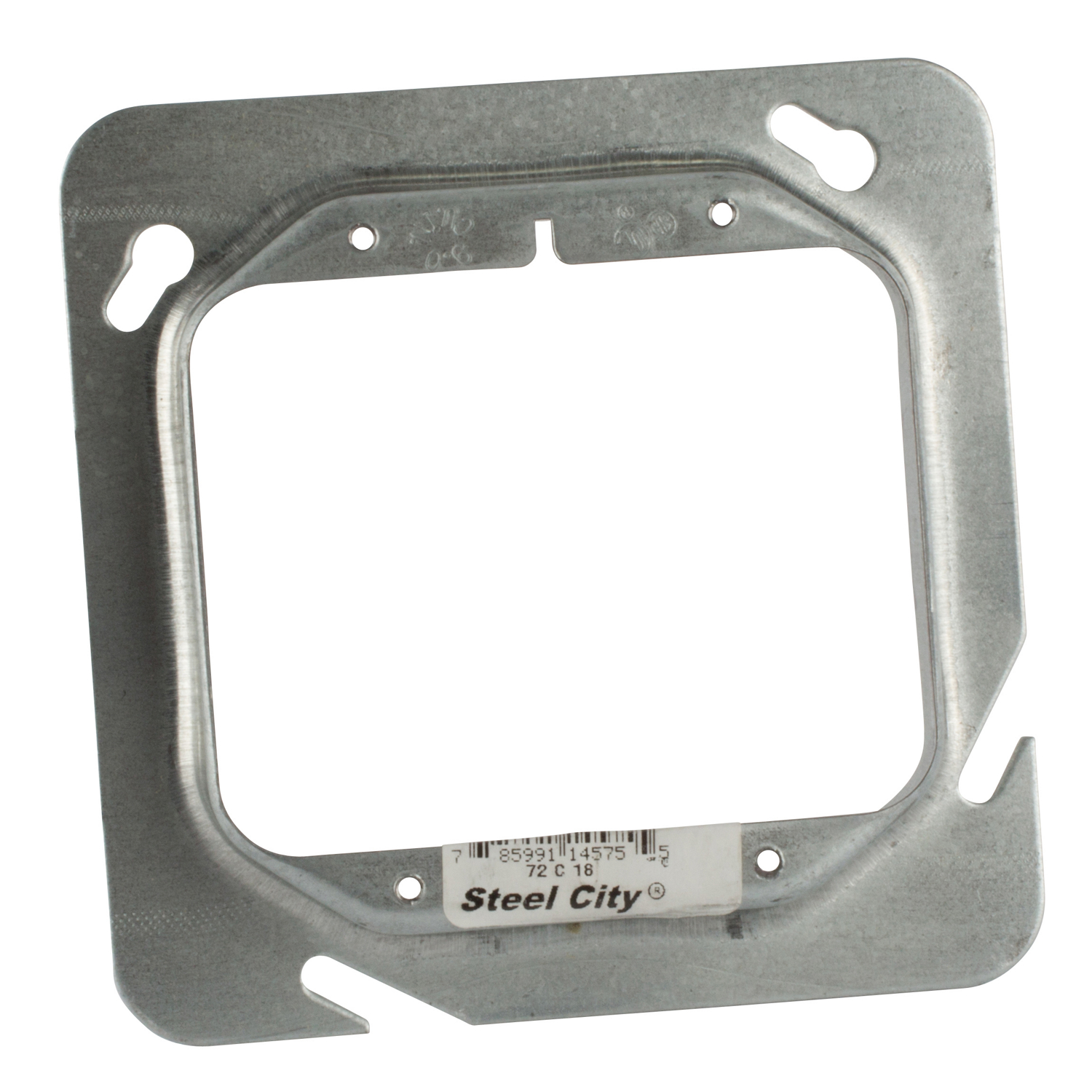 Steel City,72-C-18,Steel City® 72-C-18 Outlet Square Box Cover, 4-11/16 in L x 4-11/16 in W, Steel