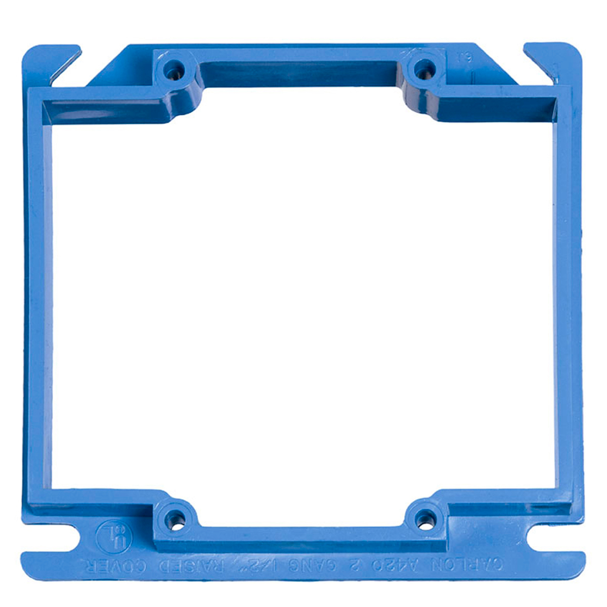 CAR A420 BLUE 4-IN SQ 2G BOX CVR CS=75 CTX EZ06DXA