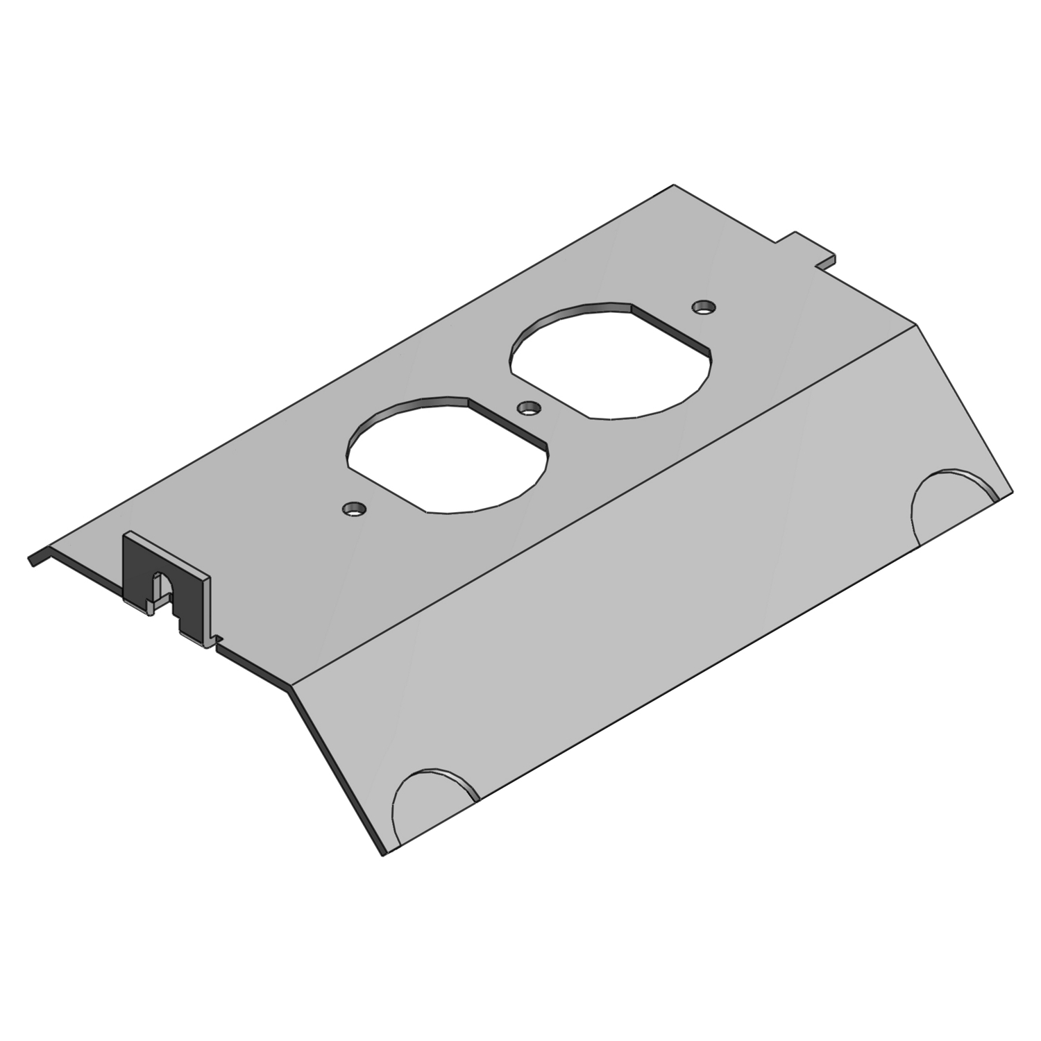 Steel City,AFP-4A,Steel City® AFP-4A Access Floor Module Cover, 5-7/8 in L, For Use With AFM-4 Series Access Floor Module, Steel