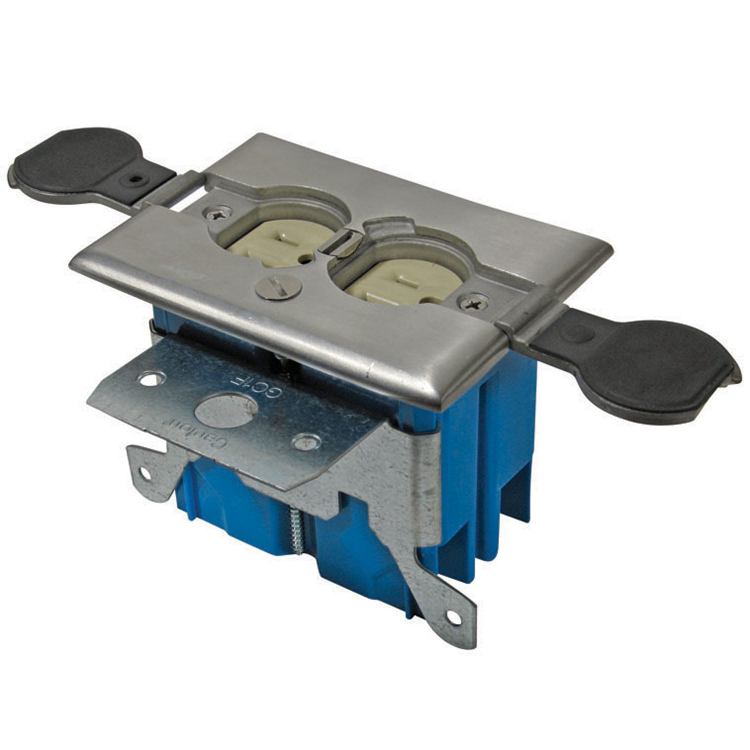 Perfect Carlon,B121BFSS,Carlon® B121BFSS Adjustable Floor Box,  Non Metallic/Stainless