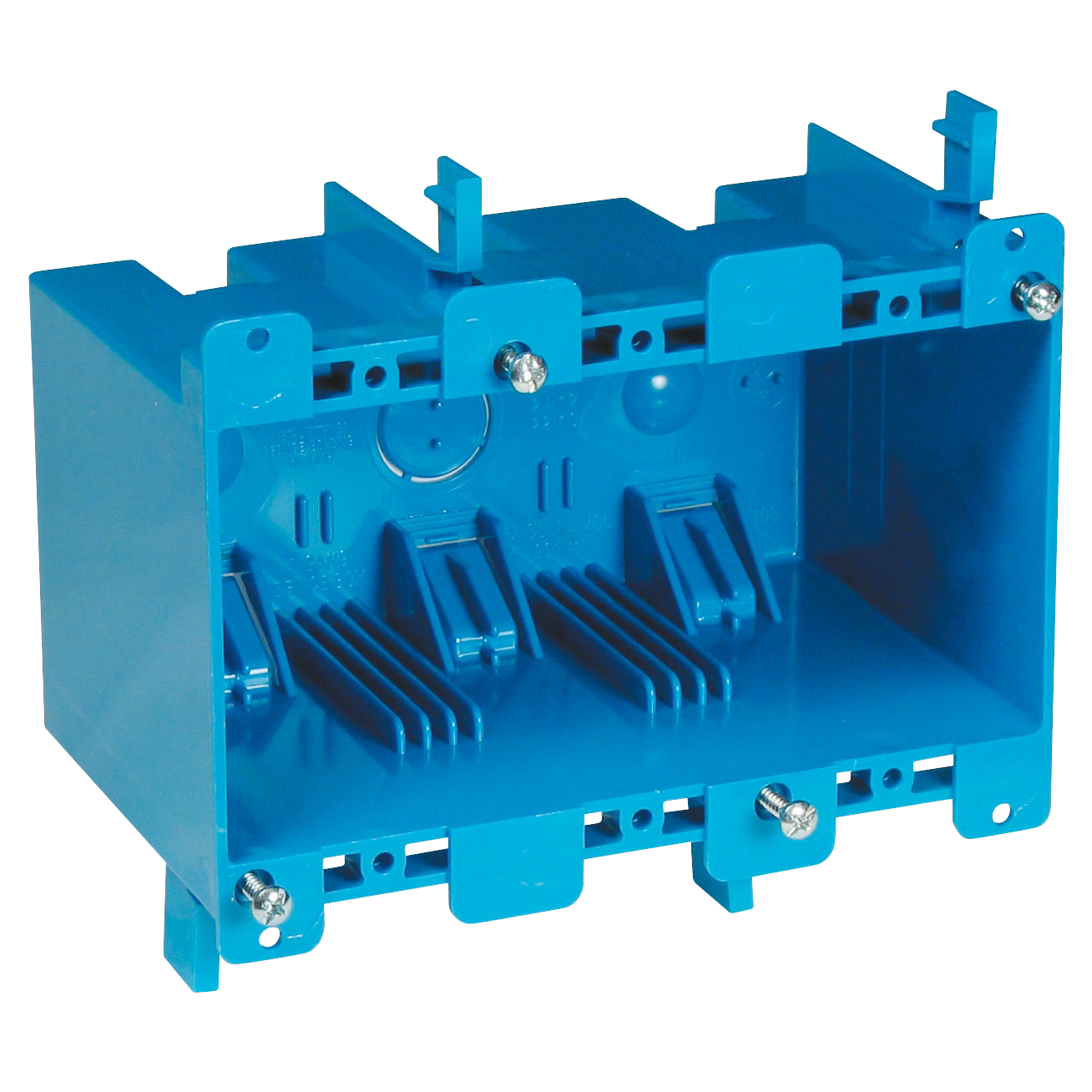 CARB355R CARLON B355R 3G SW BOX W/CLAMP;Carlon® B355R Non-Metallic Old Work Outlet Box, PVC, 55 cu-in Capacity, 3 Gangs