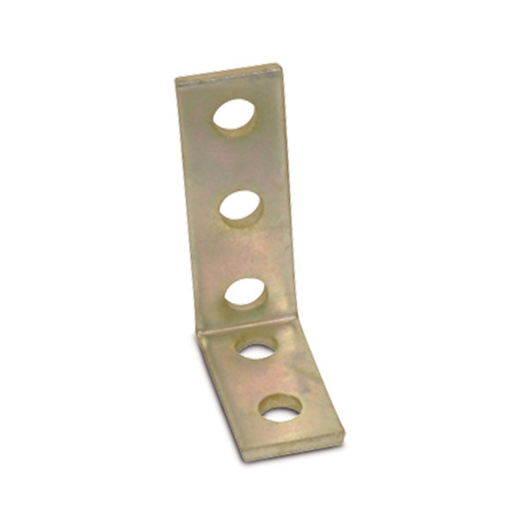 Kindorf,B-917,Kindorf® B 917 Angle Fittings Connector, 5 Holes, 4-1/2 in L x 1-1/2 in W, 1/4 in THK, Steel