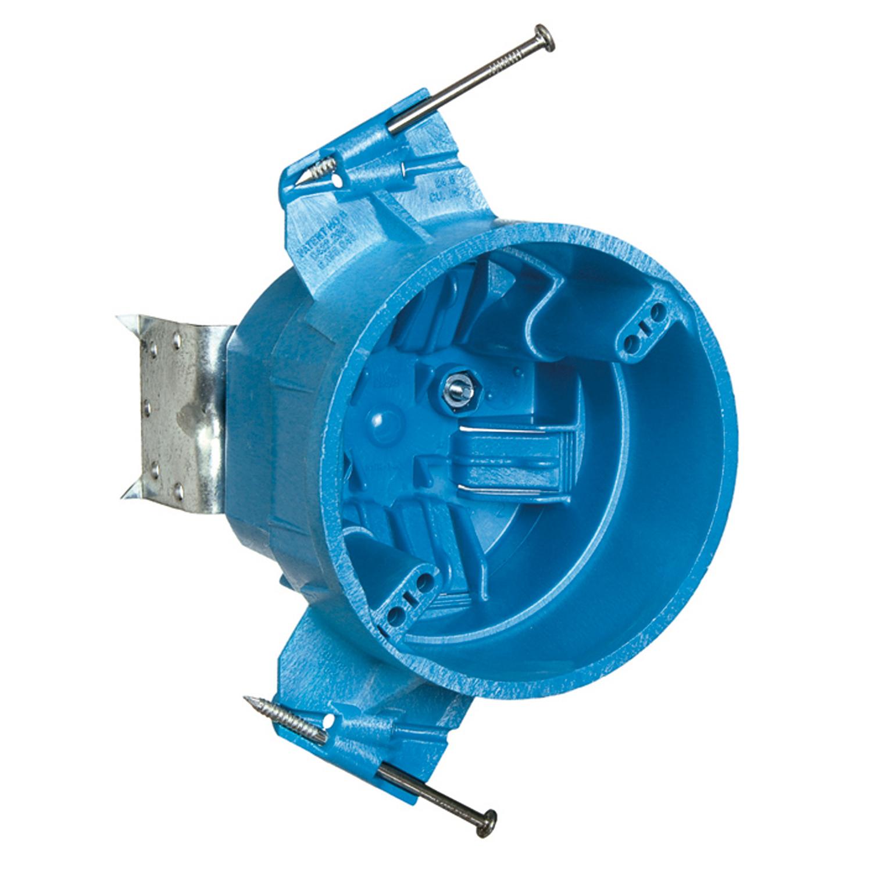 Carlon® BH525L Non-Metallic Ceiling Fan Box, PVC, 25 cu-in Capacity, 1 Gangs, 3.06 in D