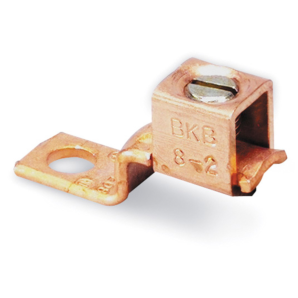Blackburn® BTC0614 Type BTC Mechanical Connector, 14 to 6 AWG Stranded Copper Conductor, 13/64 in Stud, 1 Bolt Hole, Copper