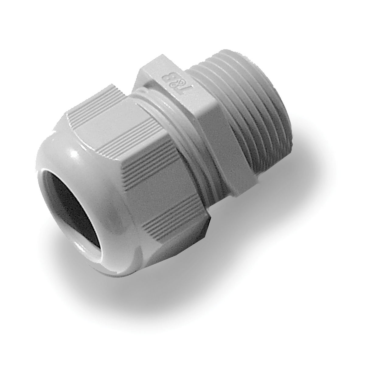 T&B® CC-NPT-38-B Non-Metallic Cable Gland, 3/8 in Thread, 0.197 to 0.394 in Dia Cable, 0.59 in L Thread, Nylon 6
