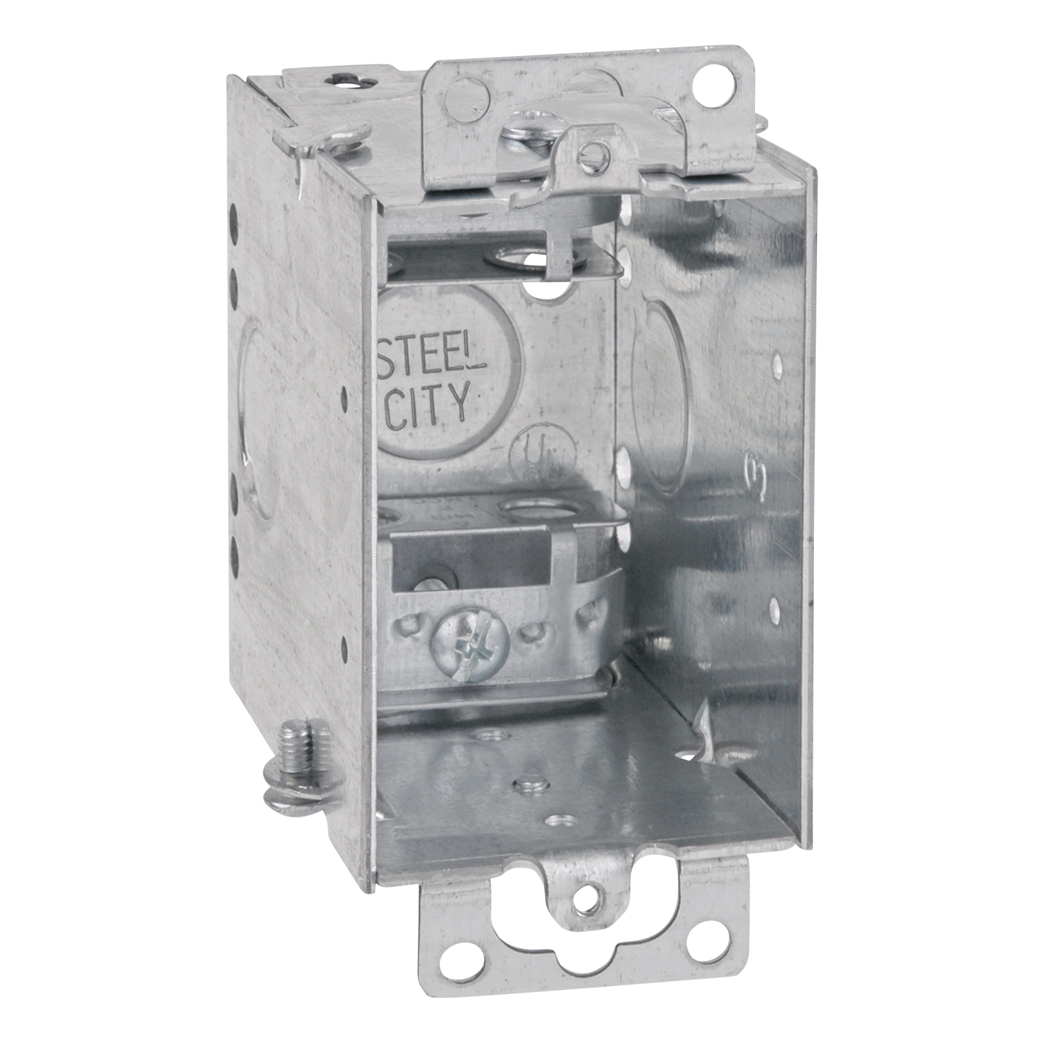 STCCWX-25 STL-CTY CWX-25 2-3/4D SW BOX W;Steel City® CWX-25 Gangable Welded Style Switch Box, Steel, 14 cu-in Capacity, 1 Gangs, 1 Outlets, 4 Knockouts