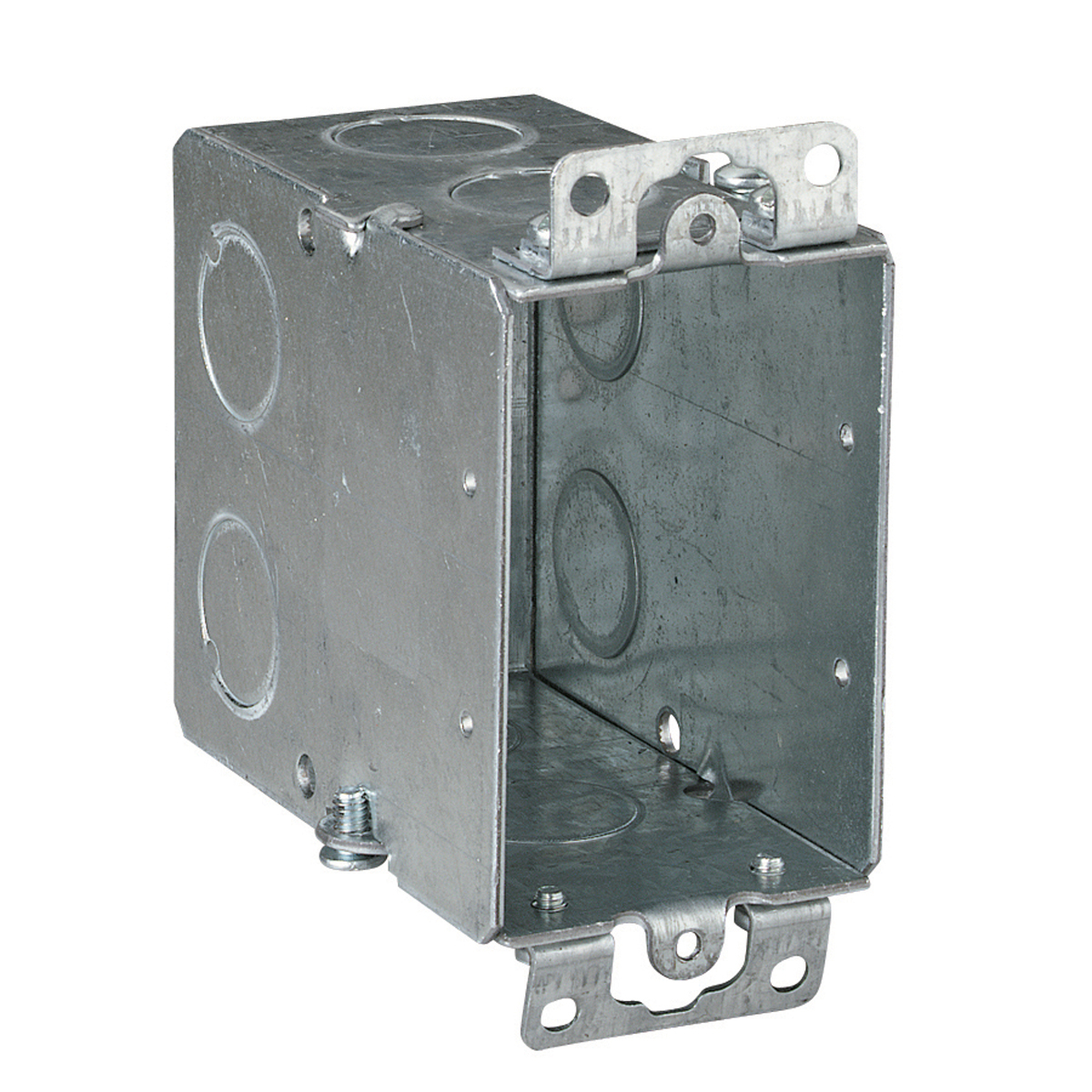 Steel City,CY-1/2,Steel City® CY-1/2 Gangable Switch Box, Steel, 18 cu-in, 1 Gang, 5 Knockouts