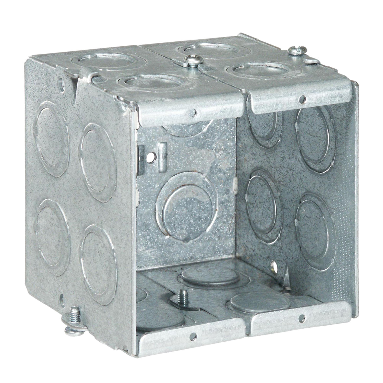STCGW235G STL-CTY GW235-G 3-1/2D 2G MASO;Steel City® GW-235-G Gangable Masonry Box, Steel, 22 cu-in Capacity, 2 Gangs, 1 Outlets, 20 Knockouts