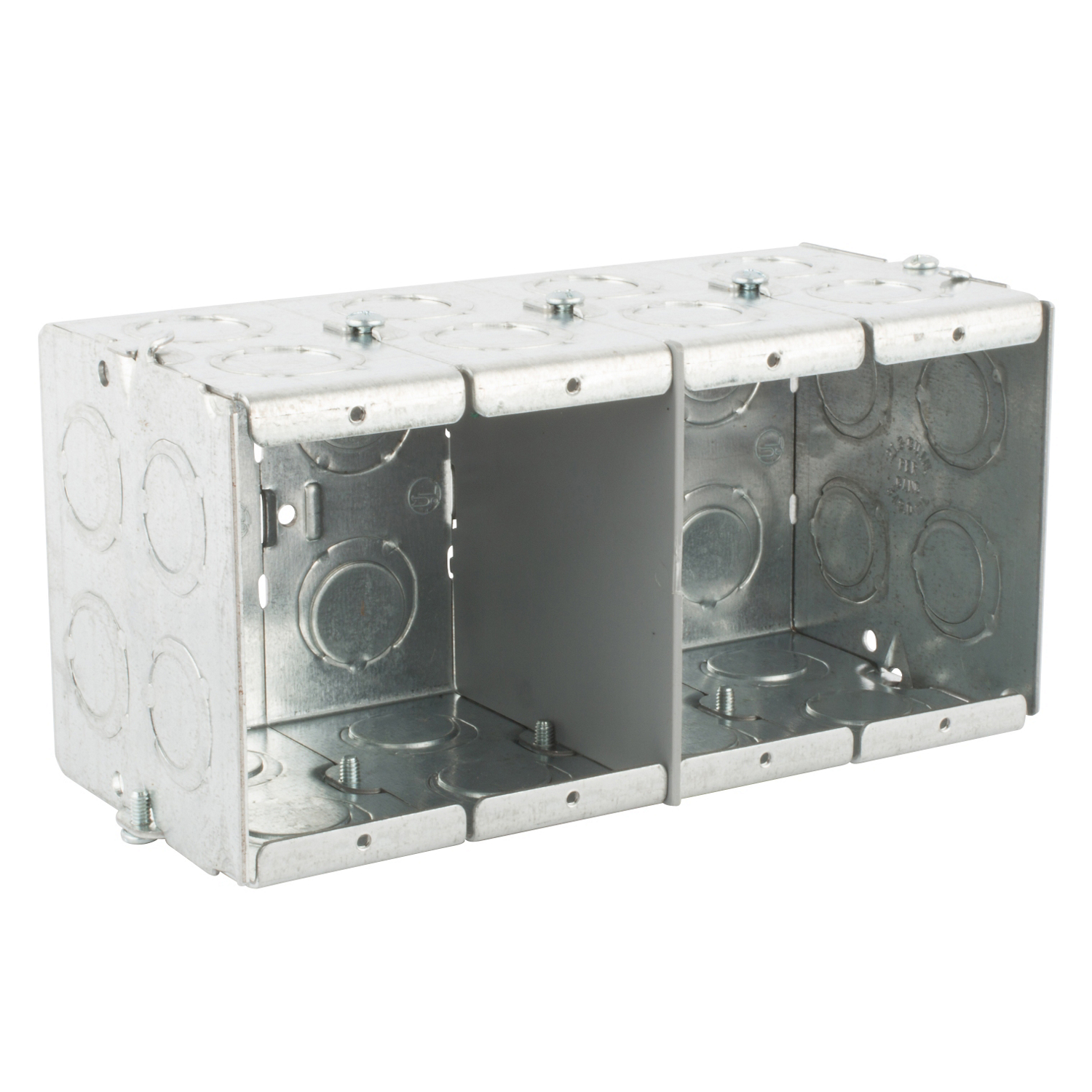 STCGW435G STL-CTY GW435-G 3-1/2D 4G MASO;Steel City® GW-435-G Gangable Masonry Box, Steel, 93.5 cu-in Capacity, 4 Gangs, 1 Outlets, 32 Knockouts