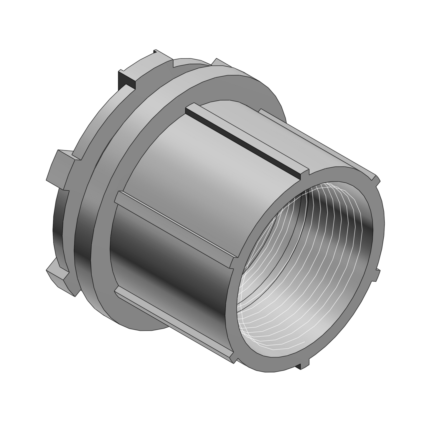 T&B® CHASE® HTZ3 Conduit Hub With Insulated Throat, 1 in, For Use With Threaded IMC/Rigid Conduits, Die Cast Zinc, Aluminum Lacquered
