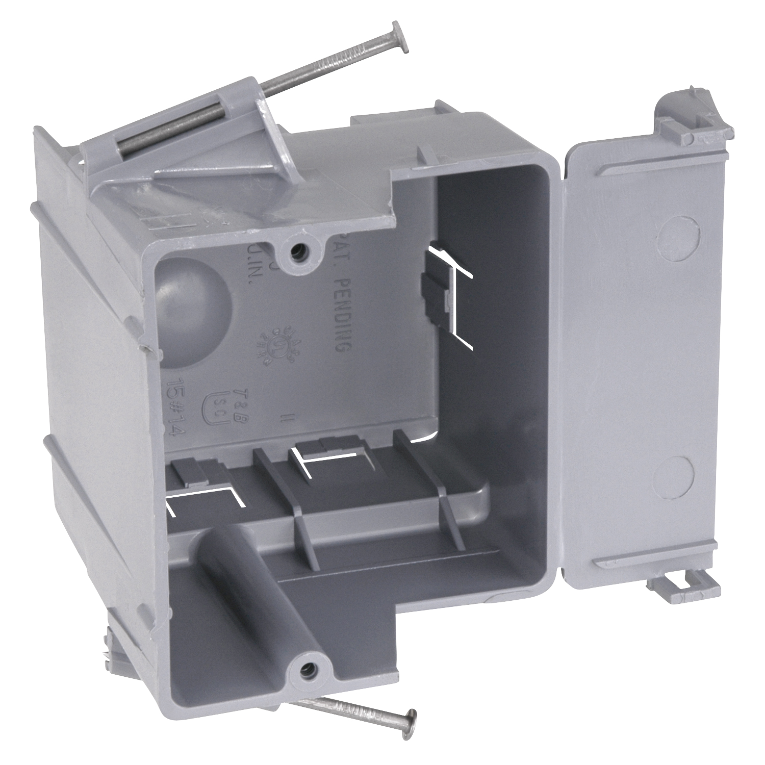TB RD-30 1-GANG DRYER BOX WITH NAILS OD 3-3/8