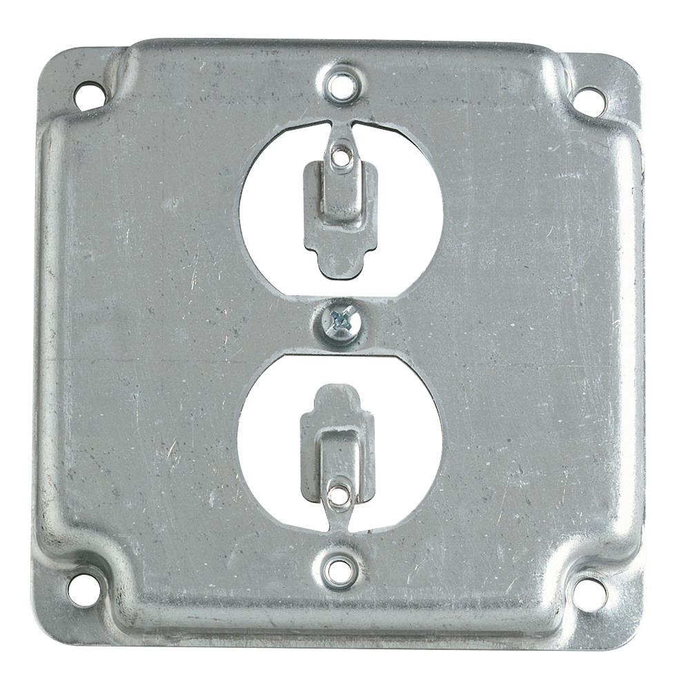 Steel City,RS-12,Steel City® RS Outlet Square Box Cover, 4 in L x 4 in W, Steel