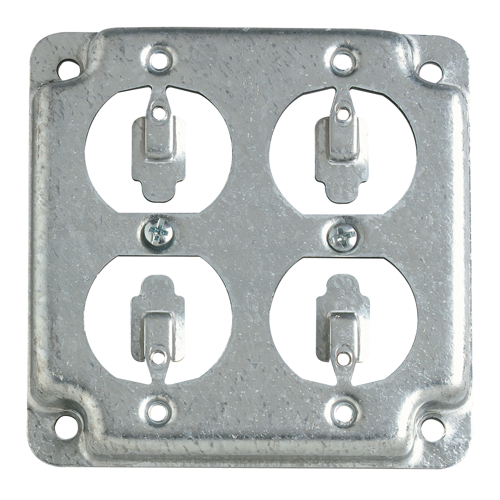Steel City,RS-8,Steel City® RS Outlet Square Box Cover, 4 in L x 4 in W, Steel