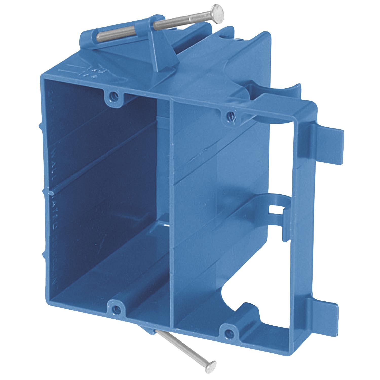 Carlon,SN-21-DV,Carlon® SN-21-DV Dual Voltage Outlet Box, 20.5 cu-in, 1 Gang, 4 Knockouts, PVC