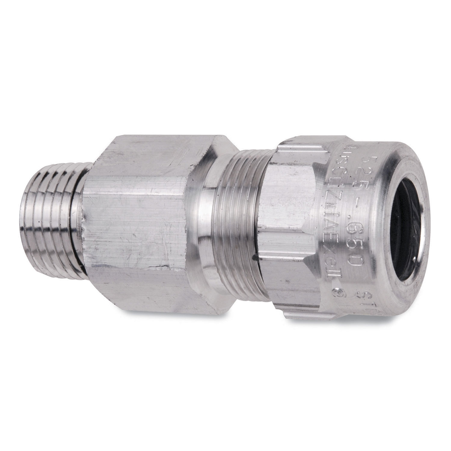 T&B Fittings,ST050-466,T&B® Industrial Fitting Star Teck® Cable Connector, 1/2 in Trade, 0.825 - 0.985 in Cable Openings, Aluminum