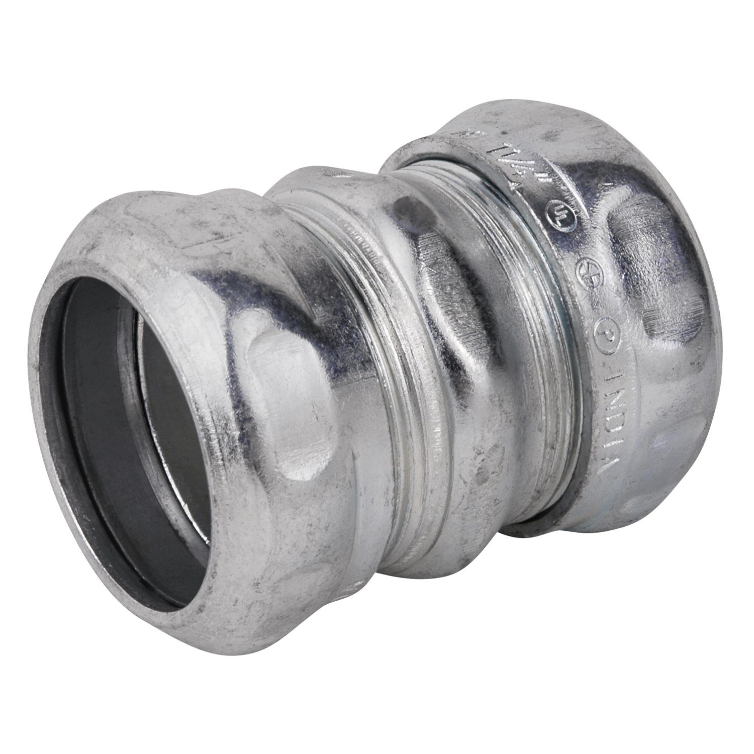 Steel City,TK114A,Steel City® TK114A Compression Thinwall Coupling, 1-1/4 in, For Use With EMT Conduit, Steel, Zinc Plated